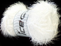 Lot of 4 x 100gr Skeins Ice Yarns EYELASH 100GR Yarn Optical White