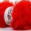 Lot of 4 x 100gr Skeins Ice Yarns EYELASH 100GR Hand Knitting Yarn Bright Red