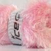 Lot of 4 x 100gr Skeins Ice Yarns EYELASH 100GR Hand Knitting Yarn Baby Pink