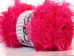 Lot of 4 x 100gr Skeins Ice Yarns EYELASH 100GR Hand Knitting Yarn Gipsy Pink