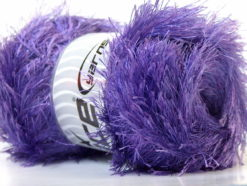 Lot of 4 x 100gr Skeins Ice Yarns EYELASH 100GR Hand Knitting Yarn Lavender