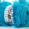 Lot of 4 x 100gr Skeins Ice Yarns EYELASH 100GR Hand Knitting Yarn Turquoise