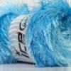 Lot of 4 x 100gr Skeins Ice Yarns EYELASH 100GR Hand Knitting Yarn Light Blue