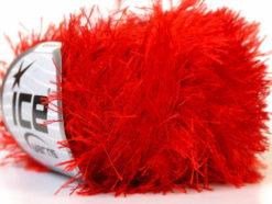 Lot of 8 Skeins Ice Yarns EYELASH Hand Knitting Yarn Bright Red