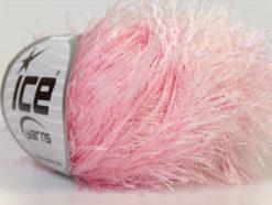 Lot of 8 Skeins Ice Yarns EYELASH Hand Knitting Yarn Baby Pink