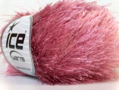 Lot of 8 Skeins Ice Yarns EYELASH Hand Knitting Yarn Rose Pink