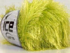 Lot of 8 Skeins Ice Yarns EYELASH Hand Knitting Yarn Light Green