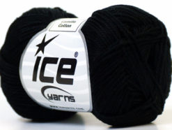 Lot of 6 Skeins Ice Yarns CAMILLA COTTON (100% Mercerized Cotton) Yarn Black