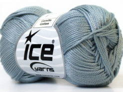 Lot of 6 Skeins Ice Yarns CAMILLA COTTON (100% Mercerized Cotton) Yarn Grey