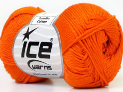 Lot of 6 Skeins Ice Yarns CAMILLA COTTON (100% Mercerized Cotton) Yarn Orange