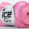 Lot of 6 Skeins Ice Yarns CAMILLA COTTON (100% Mercerized Cotton) Yarn Pink