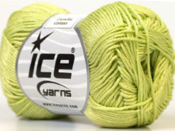 Lot of 6 Skeins Ice Yarns CAMILLA COTTON (100% Mercerized Cotton) Yarn Light Green
