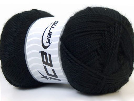 Lot of 4 x 100gr Skeins Ice Yarns DORA Hand Knitting Yarn Black