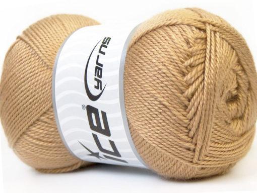 Lot of 4 x 100gr Skeins Ice Yarns DORA Hand Knitting Yarn Camel