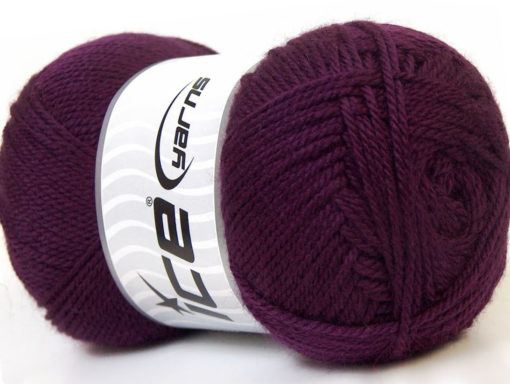 Lot of 4 x 100gr Skeins Ice Yarns DORA Hand Knitting Yarn Maroon