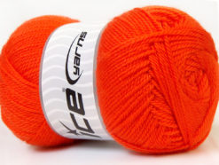 Lot of 4 x 100gr Skeins Ice Yarns DORA Hand Knitting Yarn Orange