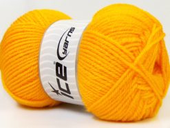 Lot of 4 x 100gr Skeins Ice Yarns Worsted FAVORITE Hand Knitting Yarn Yellow