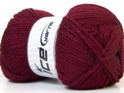 Lot of 4 x 100gr Skeins Ice Yarns Bulky ATLAS Hand Knitting Yarn Burgundy