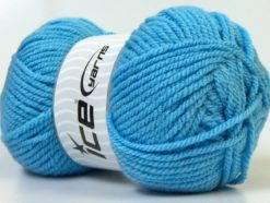 Lot of 4 x 100gr Skeins Ice Yarns Bulky ATLAS Hand Knitting Yarn Light Blue