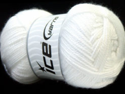 Lot of 4 x 100gr Skeins Ice Yarns DORA Hand Knitting Yarn White