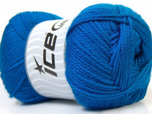 Lot of 4 x 100gr Skeins Ice Yarns DORA Hand Knitting Yarn Blue