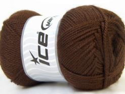 Lot of 4 x 100gr Skeins Ice Yarns DORA Hand Knitting Yarn Brown