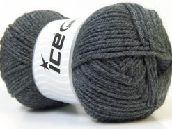 Lot of 4 x 100gr Skeins Ice Yarns Worsted FAVORITE Hand Knitting Yarn Dark Grey