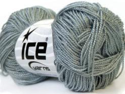 Lot of 10 Skeins Ice Yarns ETAMIN Hand Knitting Yarn Grey