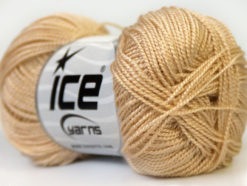 Lot of 10 Skeins Ice Yarns ETAMIN Hand Knitting Yarn Cream