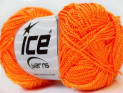 Lot of 10 Skeins Ice Yarns ETAMIN Hand Knitting Yarn Orange