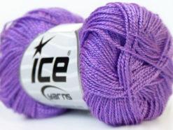 Lot of 10 Skeins Ice Yarns ETAMIN Hand Knitting Yarn Lilac