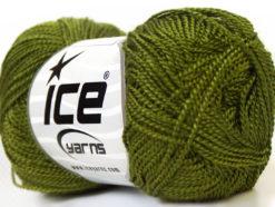 Lot of 10 Skeins Ice Yarns ETAMIN Hand Knitting Yarn Dark Olive Green