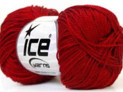 Lot of 10 Skeins Ice Yarns ETAMIN Hand Knitting Yarn Dark Red