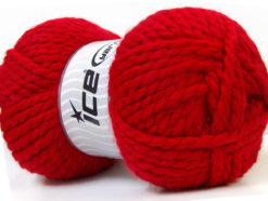 Lot of 2 x 150gr Skeins Ice Yarns SuperBulky ALPINE (45% Wool) Yarn Red