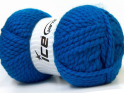 Lot of 2 x 150gr Skeins Ice Yarns SuperBulky ALPINE (45% Wool) Yarn Blue