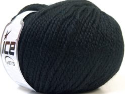 Lot of 4 x 100gr Skeins Ice Yarns ALPACA BULKY (25% Alpaca 35% Wool) Yarn Black