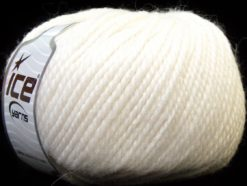 Lot of 4 x 100gr Skeins Ice Yarns ALPACA BULKY (25% Alpaca 35% Wool) Yarn White