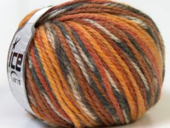 Lot of 4 x 100gr Skeins Ice Yarns ALPACA BULKY MAGIC (25% Alpaca 35% Wool) Yarn Grey Brown Gold White