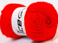 Lot of 4 x 100gr Skeins Ice Yarns DORA Hand Knitting Yarn Red