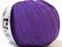 Lot of 6 Skeins Ice Yarns BABY MERINO (40% Merino Wool) Yarn Purple