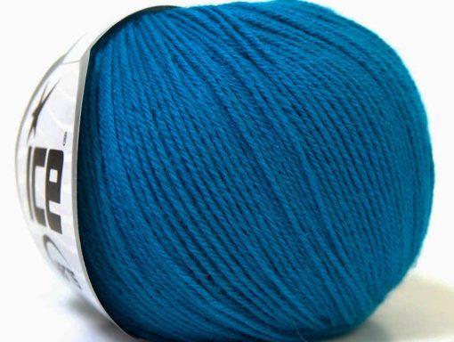 Lot of 6 Skeins Ice Yarns BABY MERINO (40% Merino Wool) Yarn Dark Blue