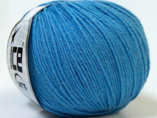 Lot of 6 Skeins Ice Yarns BABY MERINO (40% Merino Wool) Yarn Light Blue