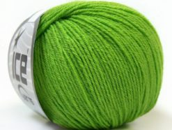 Lot of 6 Skeins Ice Yarns BABY MERINO (40% Merino Wool) Yarn Green