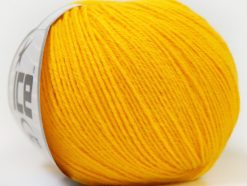 Lot of 6 Skeins Ice Yarns BABY MERINO (40% Merino Wool) Yarn Yellow