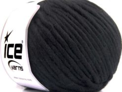 Lot of 4 x 100gr Skeins Ice Yarns PURE WOOL SUPERBULKY (100% Australian Wool) Yarn Black