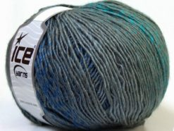 Lot of 4 x 100gr Skeins Ice Yarns MIRAGE COLOR (50% Wool) Yarn Grey Shades Blue Turquoise