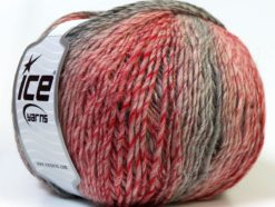 Lot of 4 x 100gr Skeins Ice Yarns MIRAGE COLOR (50% Wool) Yarn Red Grey Pink
