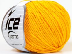 Lot of 8 Skeins Ice Yarns ALARA (50% Cotton) Hand Knitting Yarn Yellow