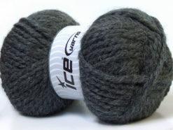 Lot of 2 x 150gr Skeins Ice Yarns SuperBulky ALPINE ALPACA (30% Alpaca 10% Wool) Yarn Dark Grey