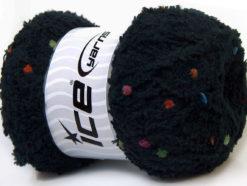 Lot of 4 x 100gr Skeins Ice Yarns PUFFY POMPOM (85% MicroFiber) Yarn Black